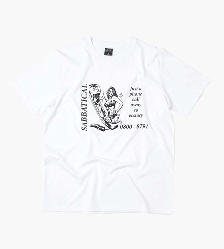 Sabbatical Sabbatical One Call Away T-Shirt White
