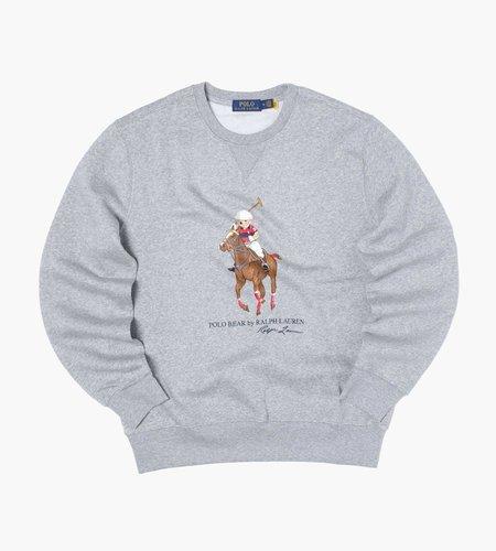 Polo Ralph Lauren Polo Ralph Lauren Ls Cnm 4 Long Sleeve Sweatshirt Andover Heather Horse Bear