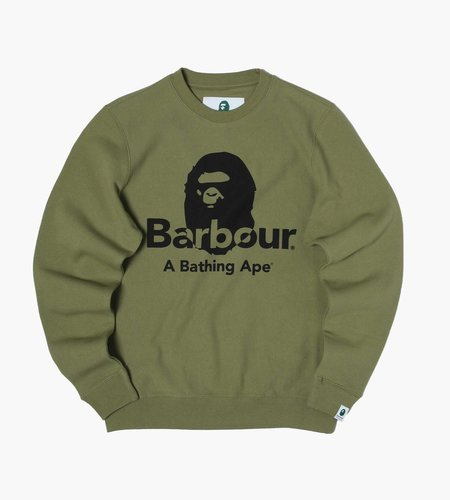 Barbour Barbour Bape Crew Ol39 Burnt Olive