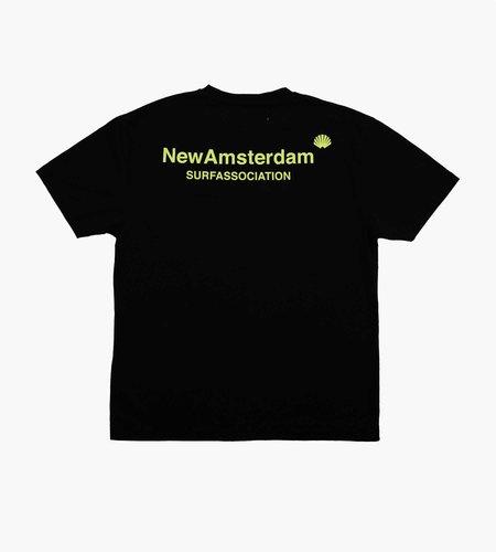 New Amsterdam Surf Association New Amsterdam Surf Association Logo Tee Black Lime