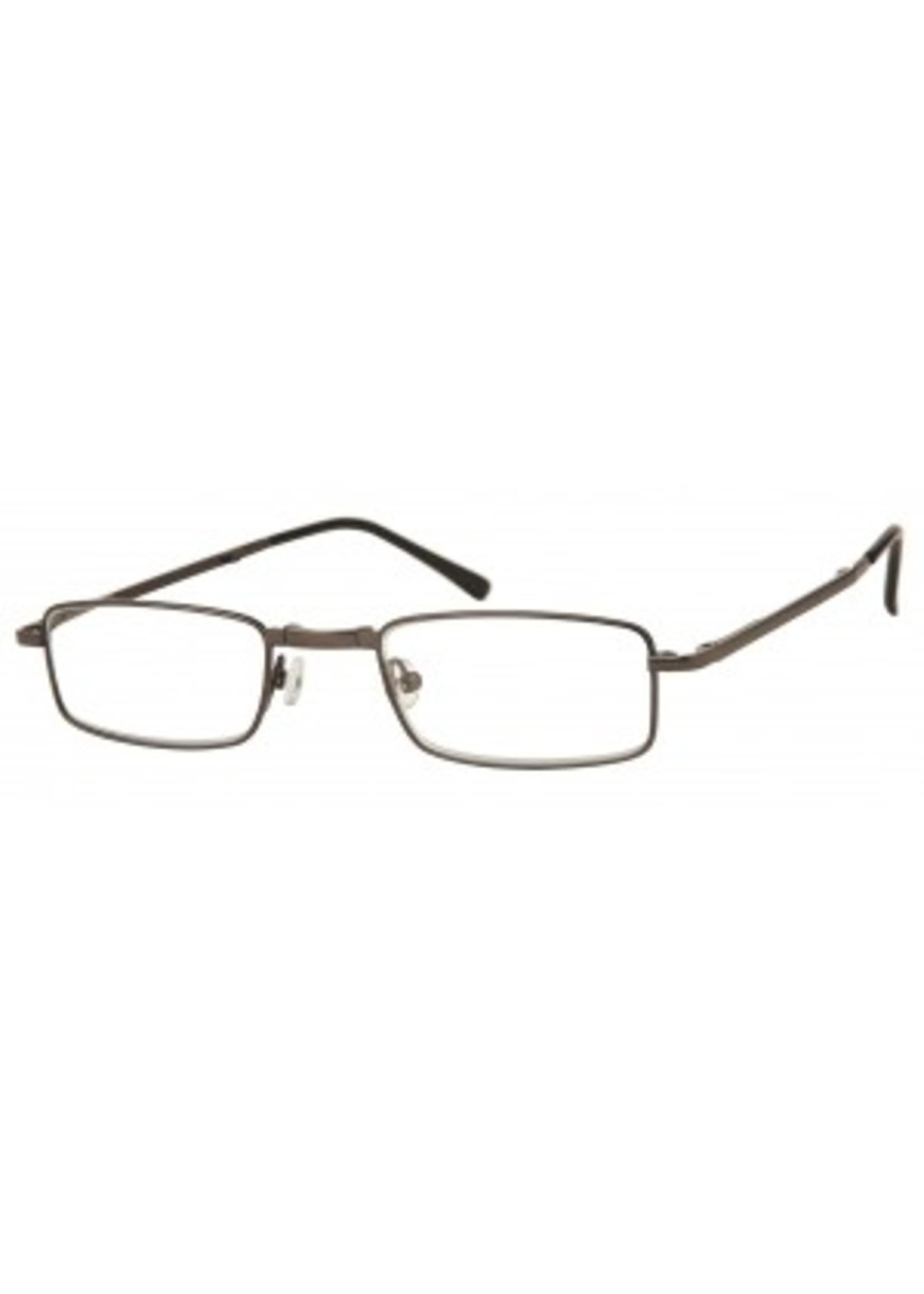 Opvouwbare leesbril in gunkleur