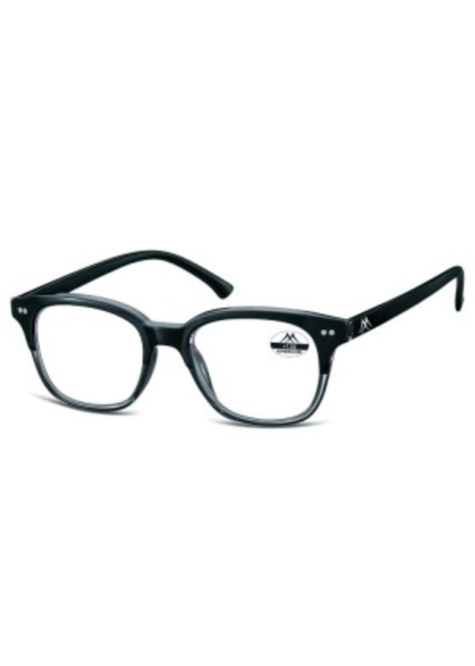 Vintage leesbril in zwart grijs
