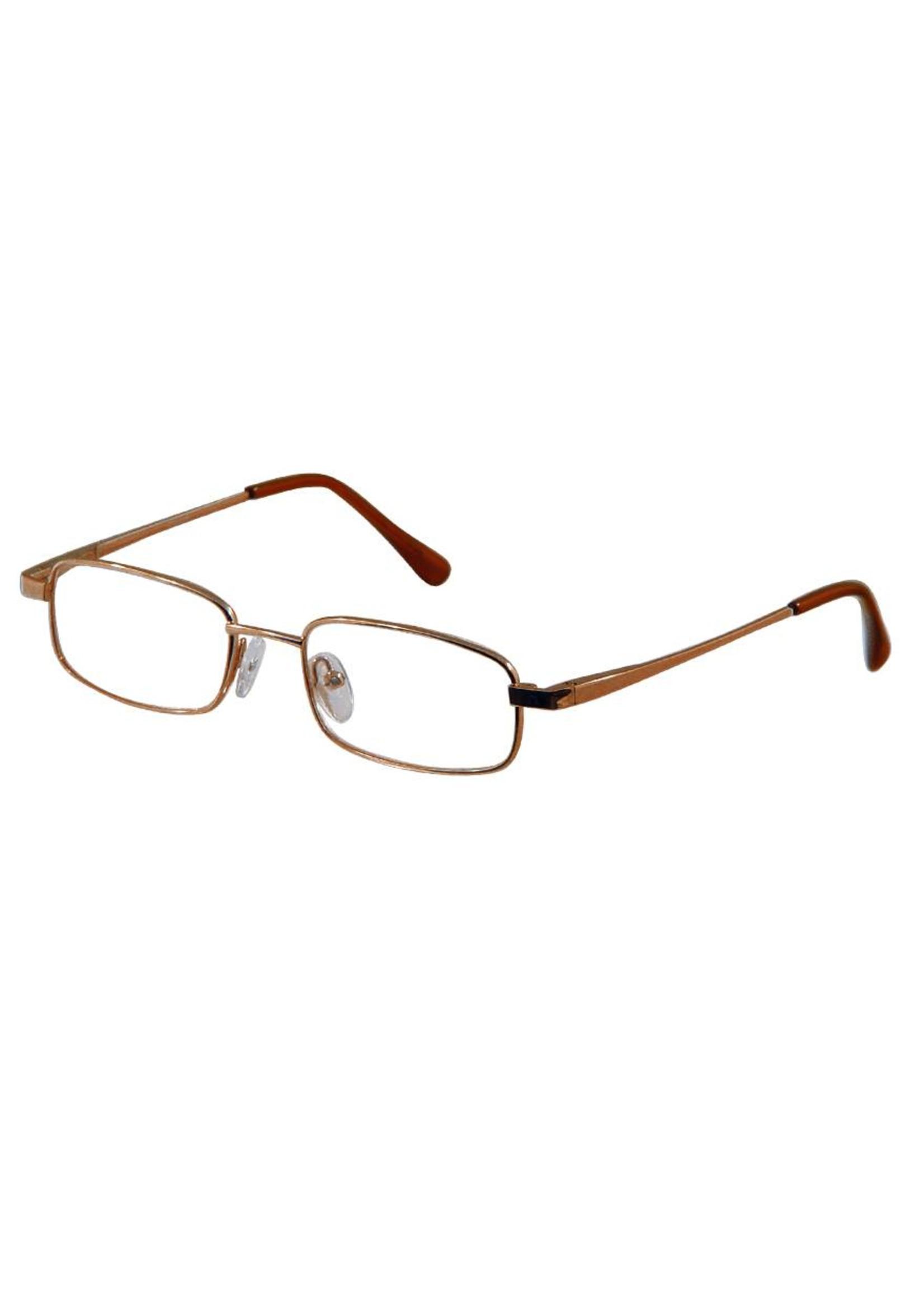 Basic Leesbril Leo 115 in Brons met flex-veren
