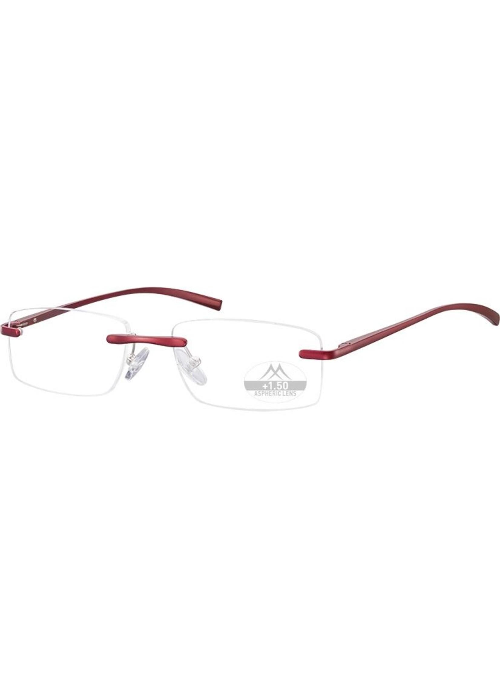 Unisex Randloze Lightweight Leesbril in aluminium