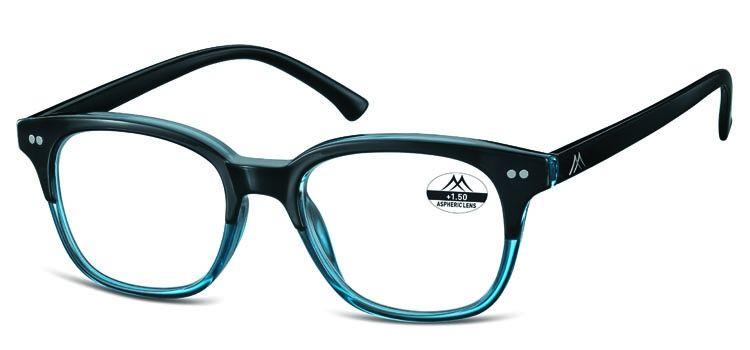 aa2f2afd76fd92 Vintage leesbril in blauw met zwarte veren - De Leesbrilwinkel