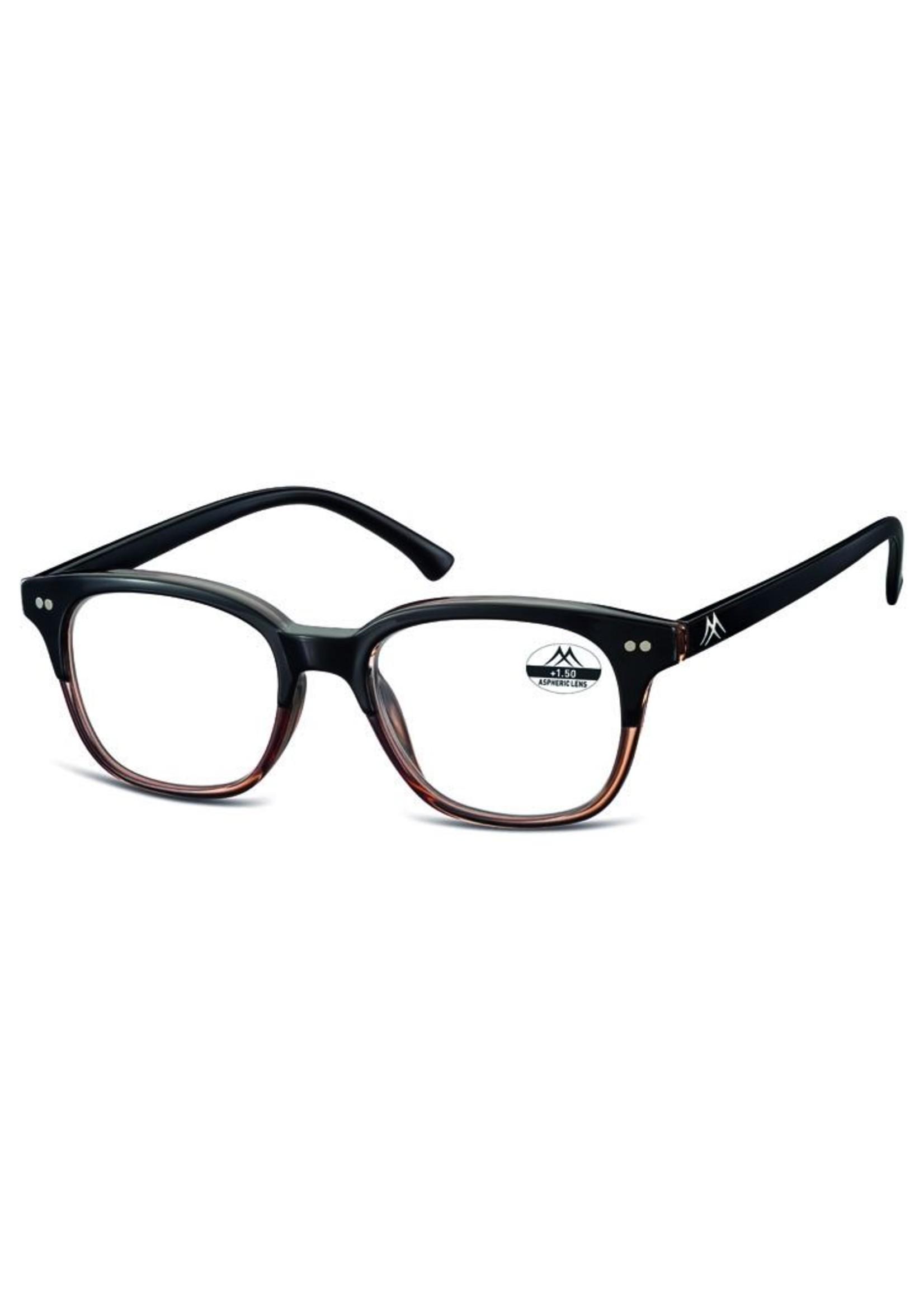Vintage leesbril in zwart met bruin