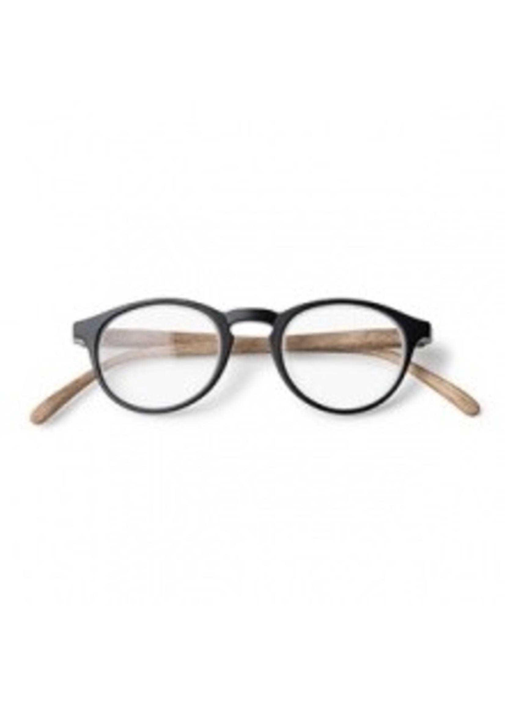 Dokters Leesbril hout-look zwart