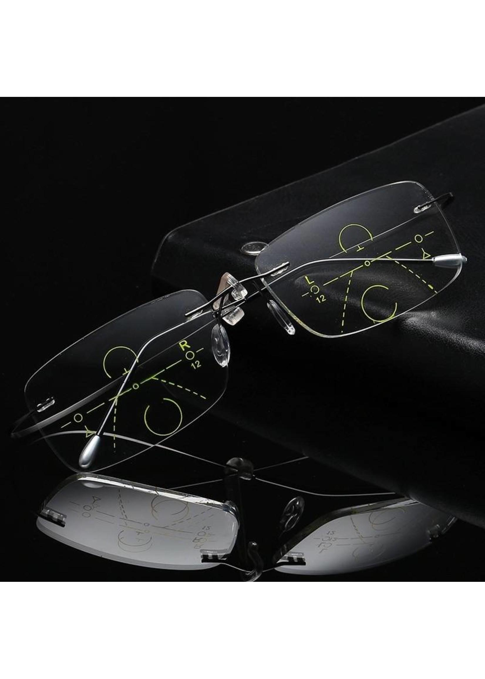 Randloze Titanium multifocale leesbril