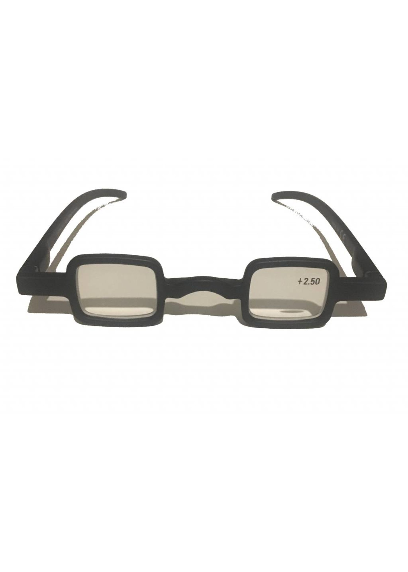Pop-Art leesbril in vierkant mat zwart