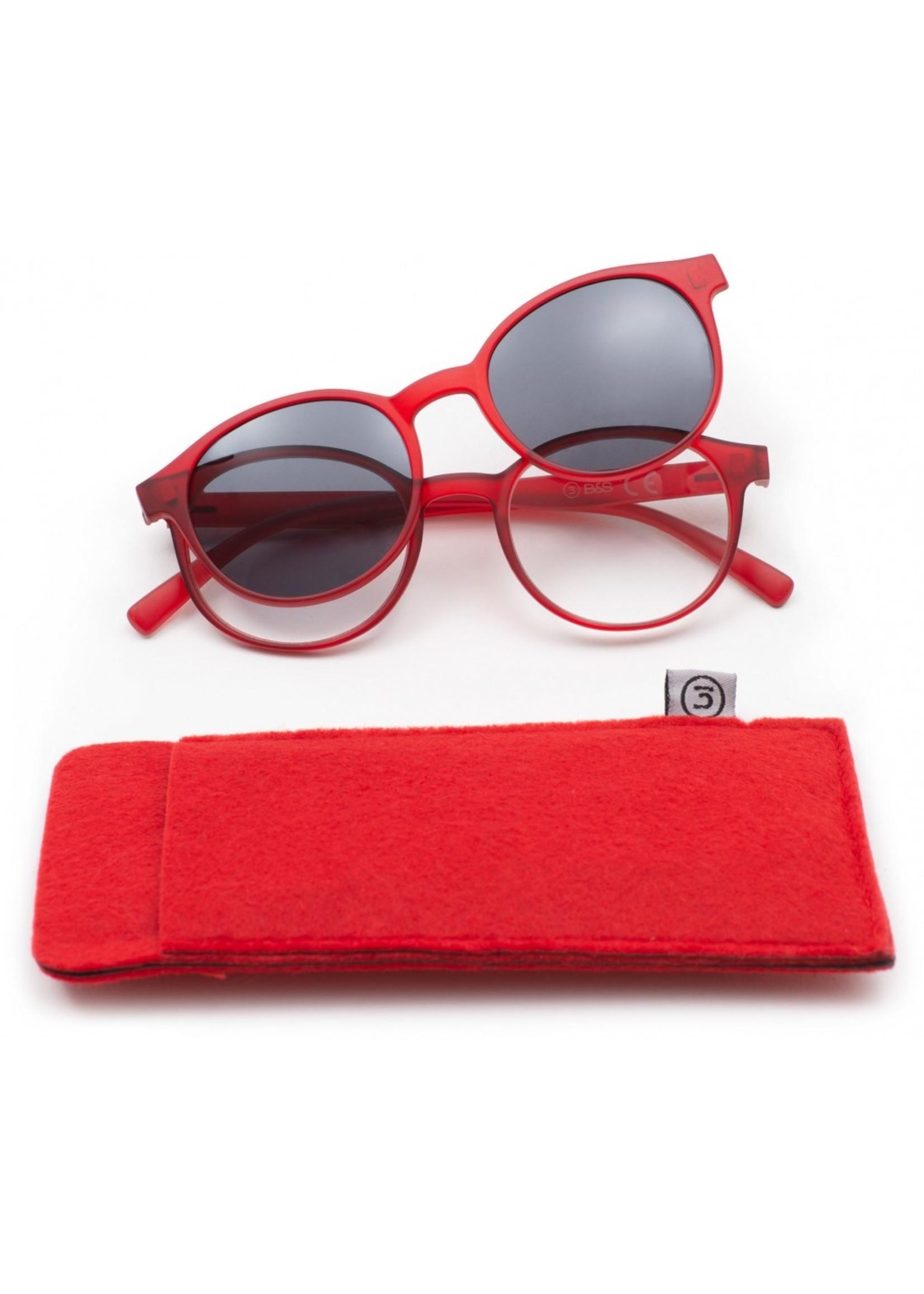 Leesbril B&S met bijpassende zonneclip