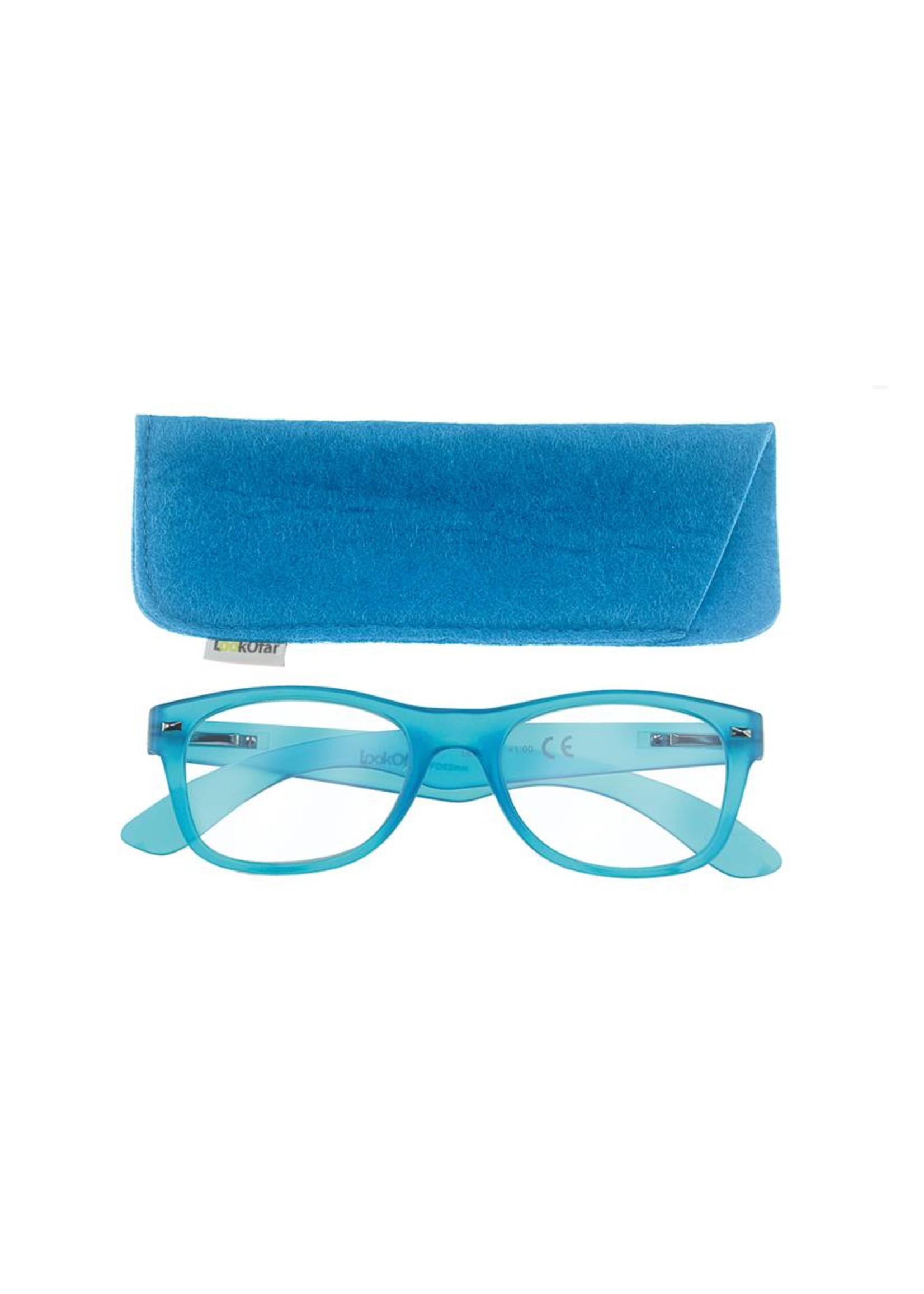 Leesbril model Wayfarer Neon Blauw