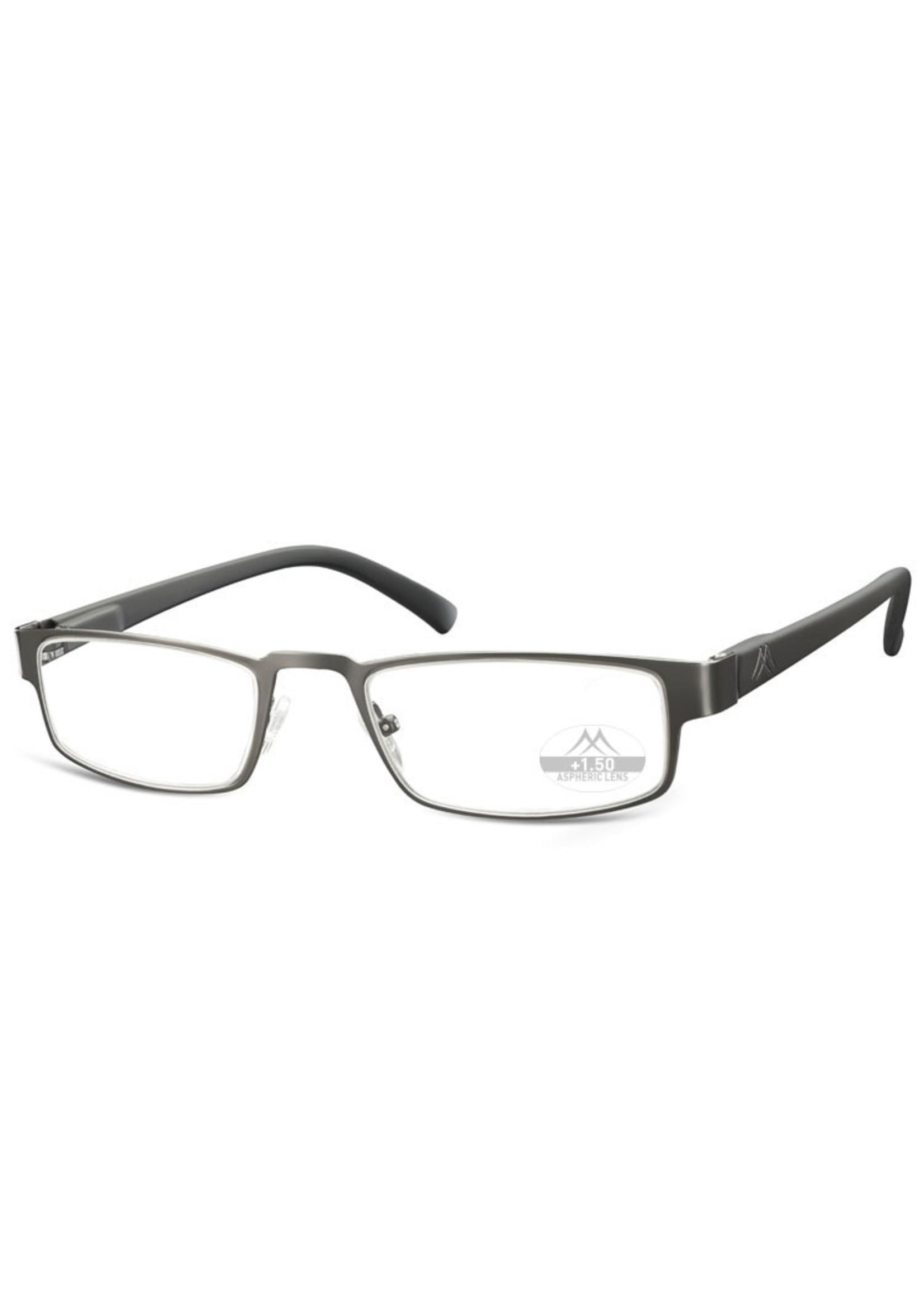 Leesbril model MR87 Gun/zwart