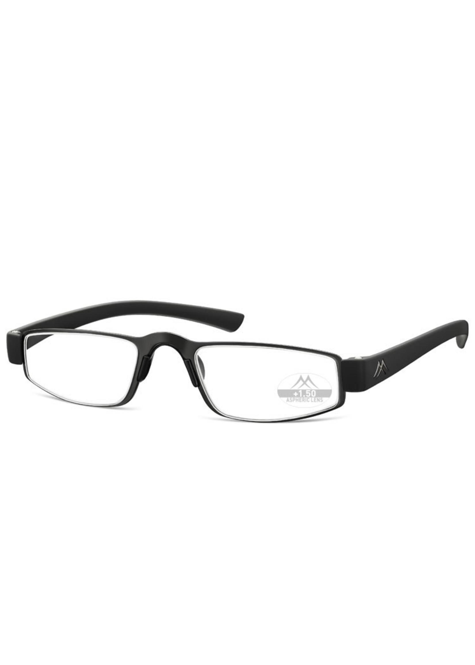 Moderne heren leesbril Montana MR99 in mat zwart