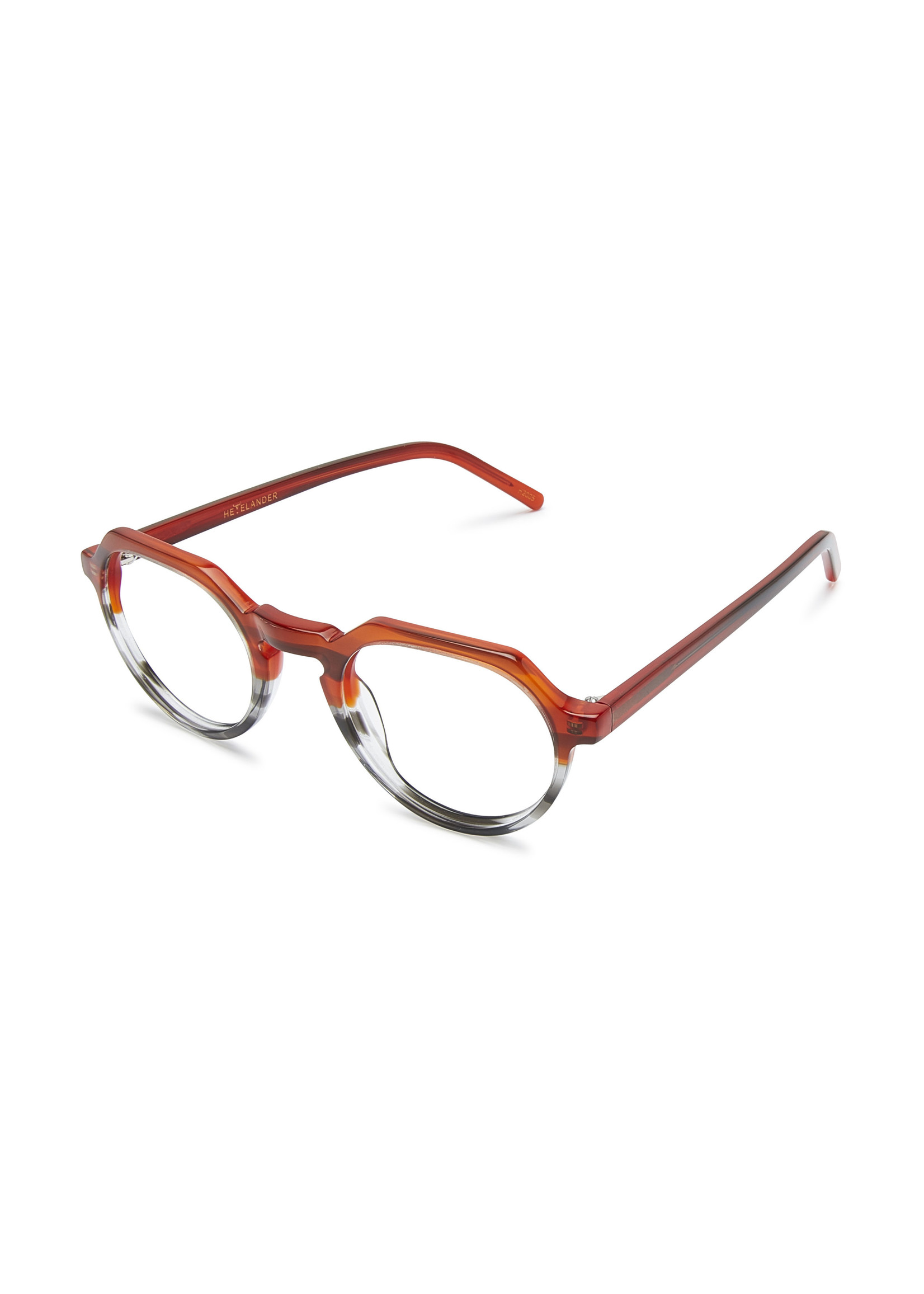 Heyelander Design Brillen  Heyelander Desigh Leesbril Gregory Maroon to Havanna