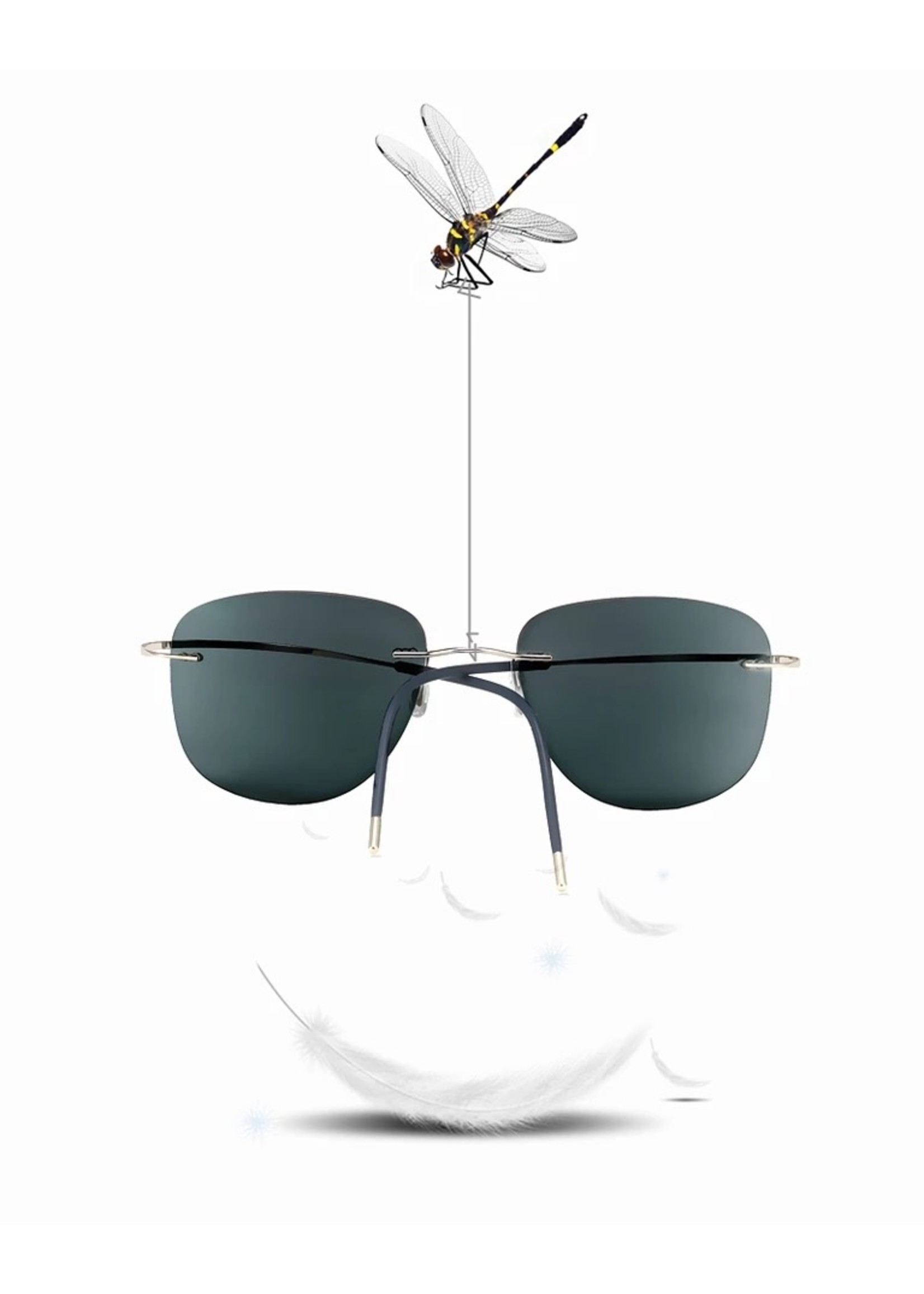 Randloze Titanium Multifocale Leesbril Meekleurend
