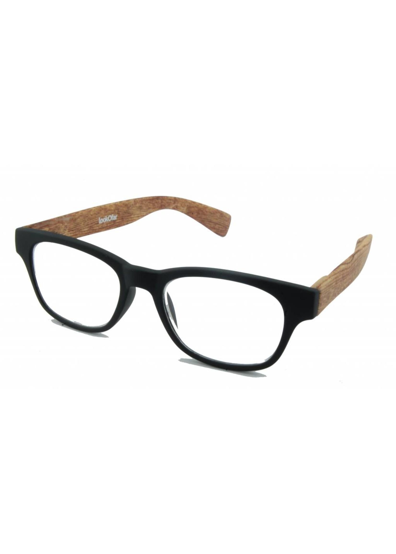 Leesbril WayFahrer look Black Wood