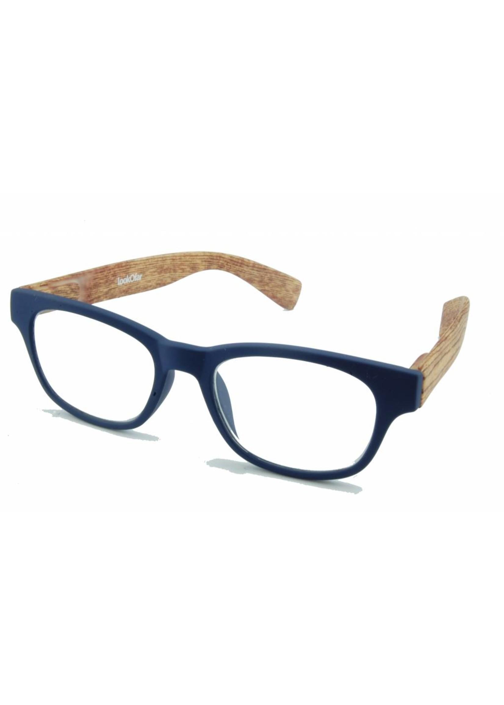 Leesbril Wahfarer look Bleu Wood