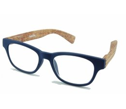 Leesbril Wahfarer look Bleu Wood