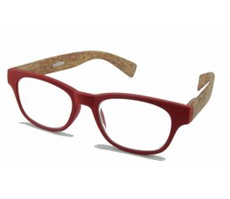 Leesbril Wahfarer look Red Wood