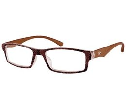 Stijlvolle dames leesbril in bruin