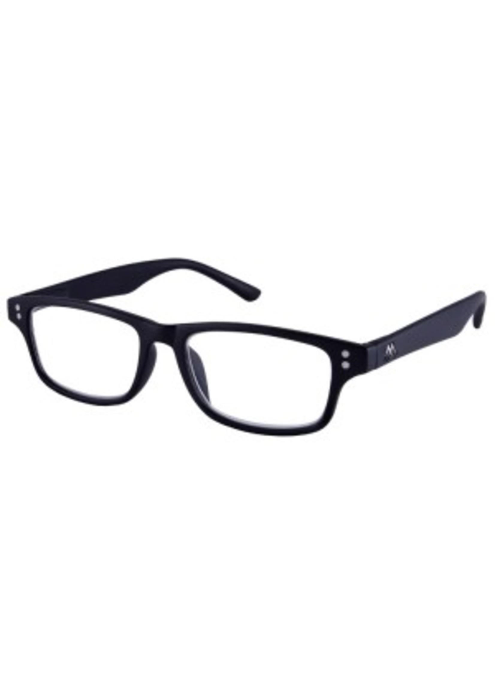 Moderne unisex leesbril in zwart