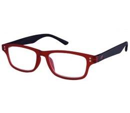 Moderne unisex leesbril in burgundy en zwart