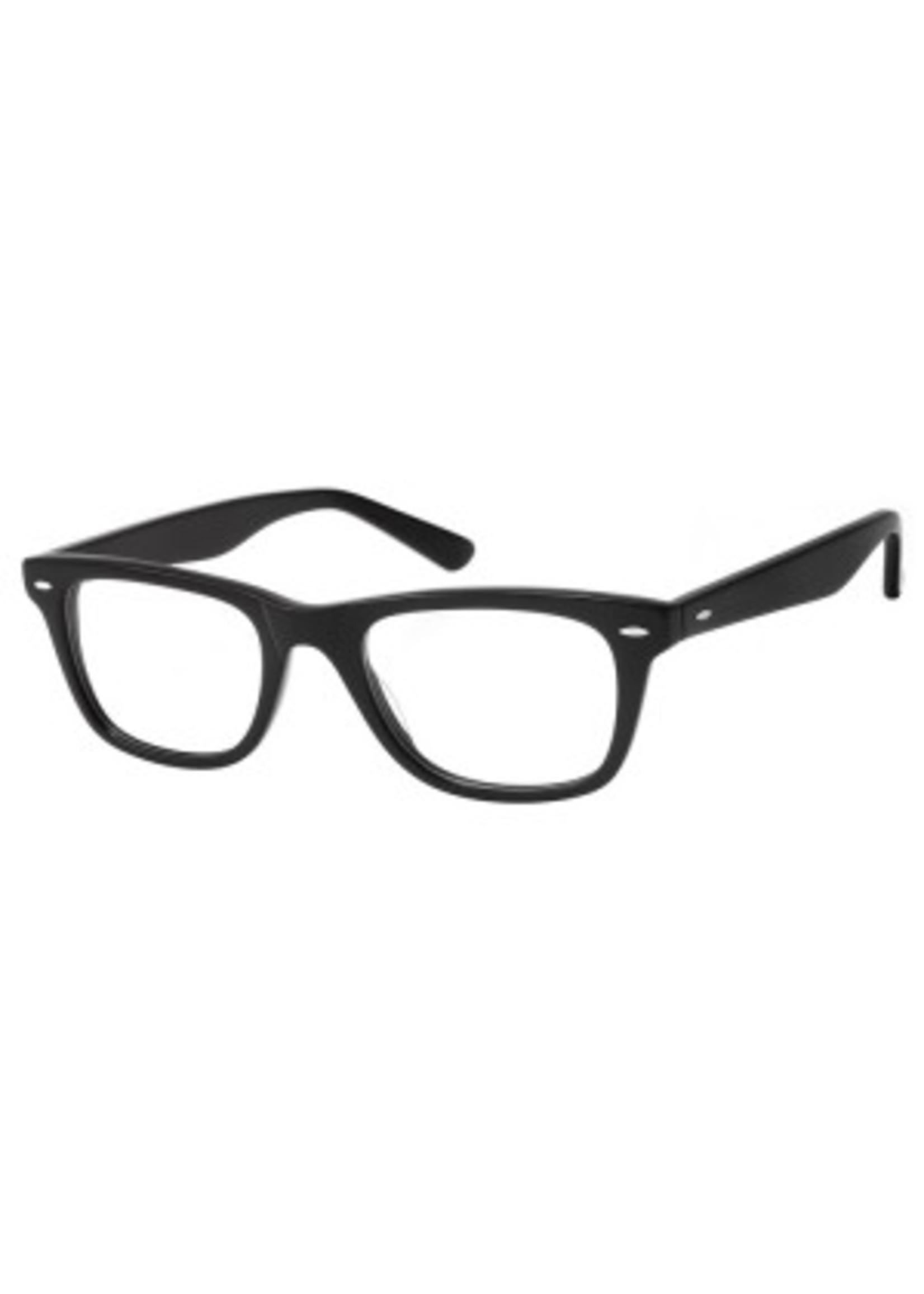 wayfarer leesbril in zwart