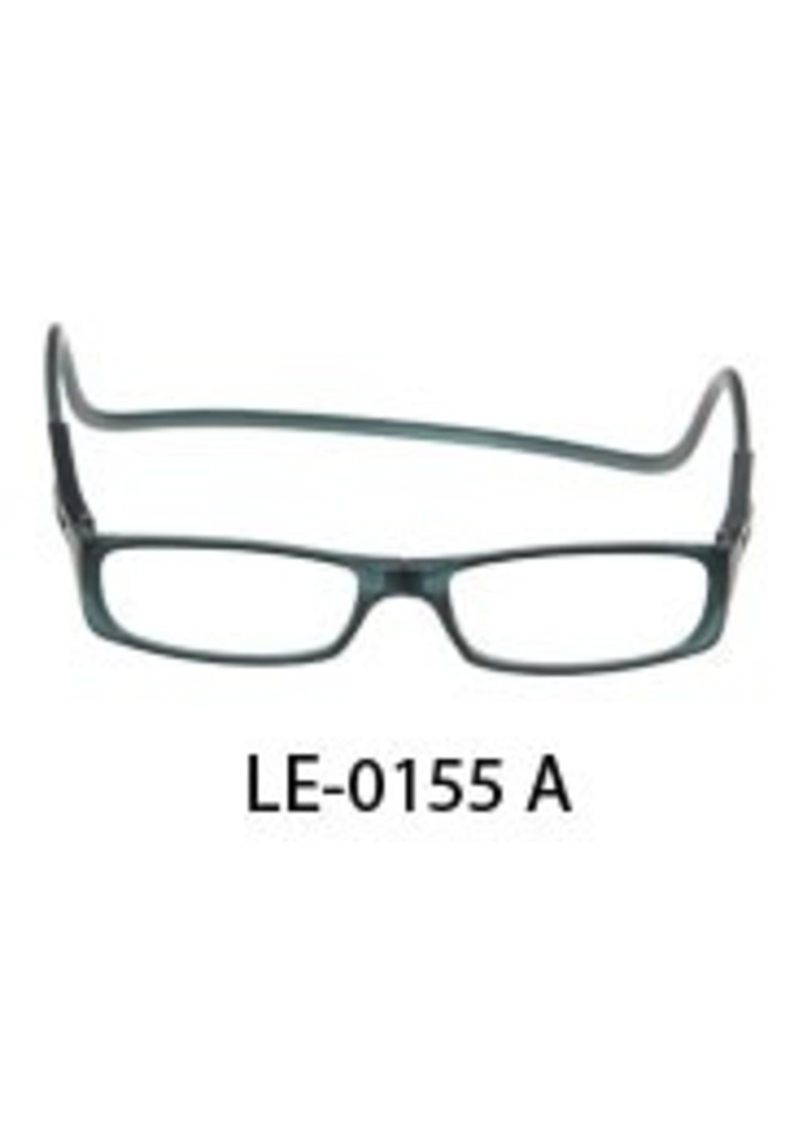 Magneet leesbril in transparant grijs