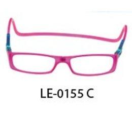 Magneet leesbril in fuchsia