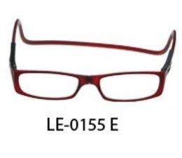 Magneet leesbril in bordeaux
