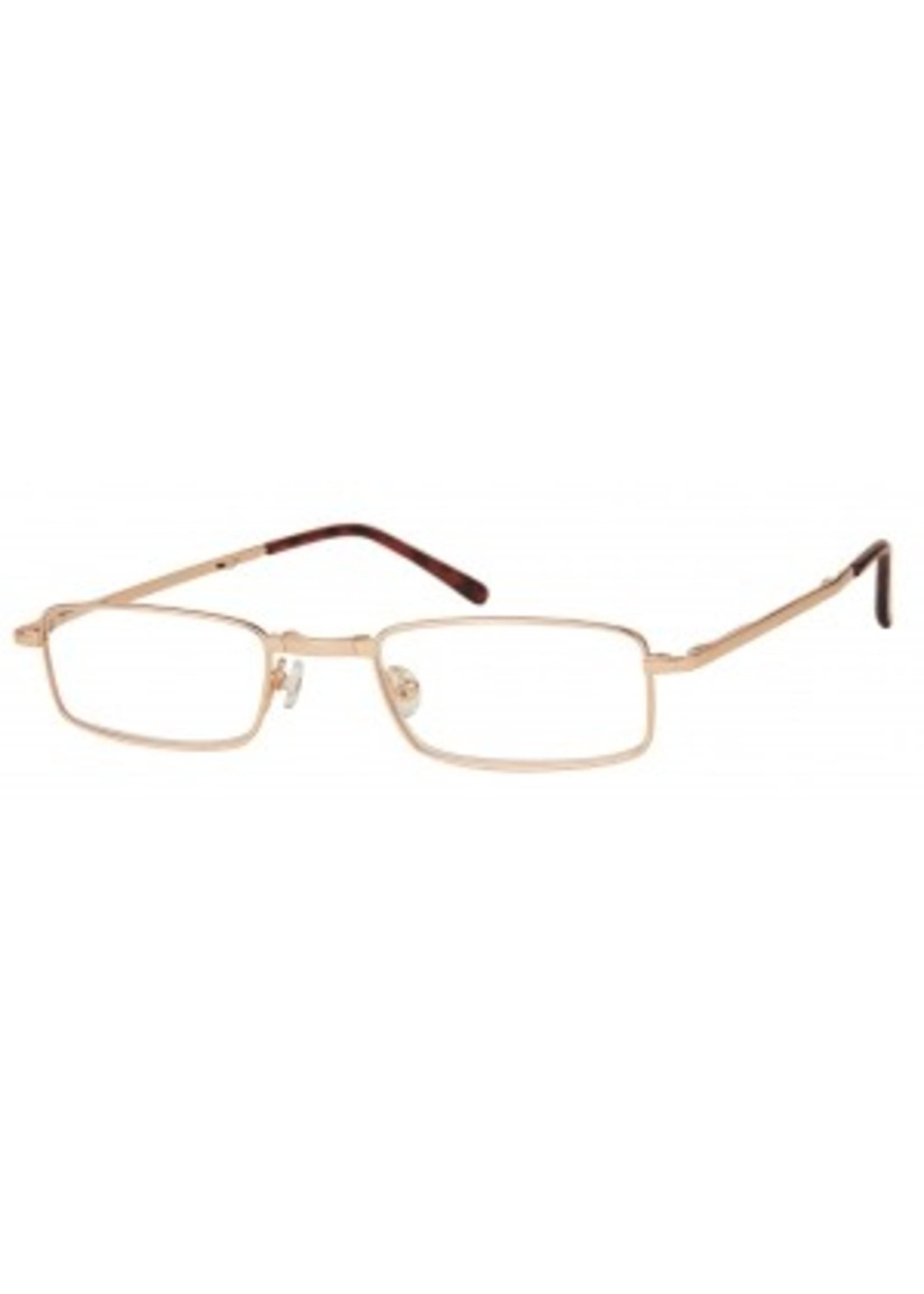 Opvouwbare leesbril in goudkleur