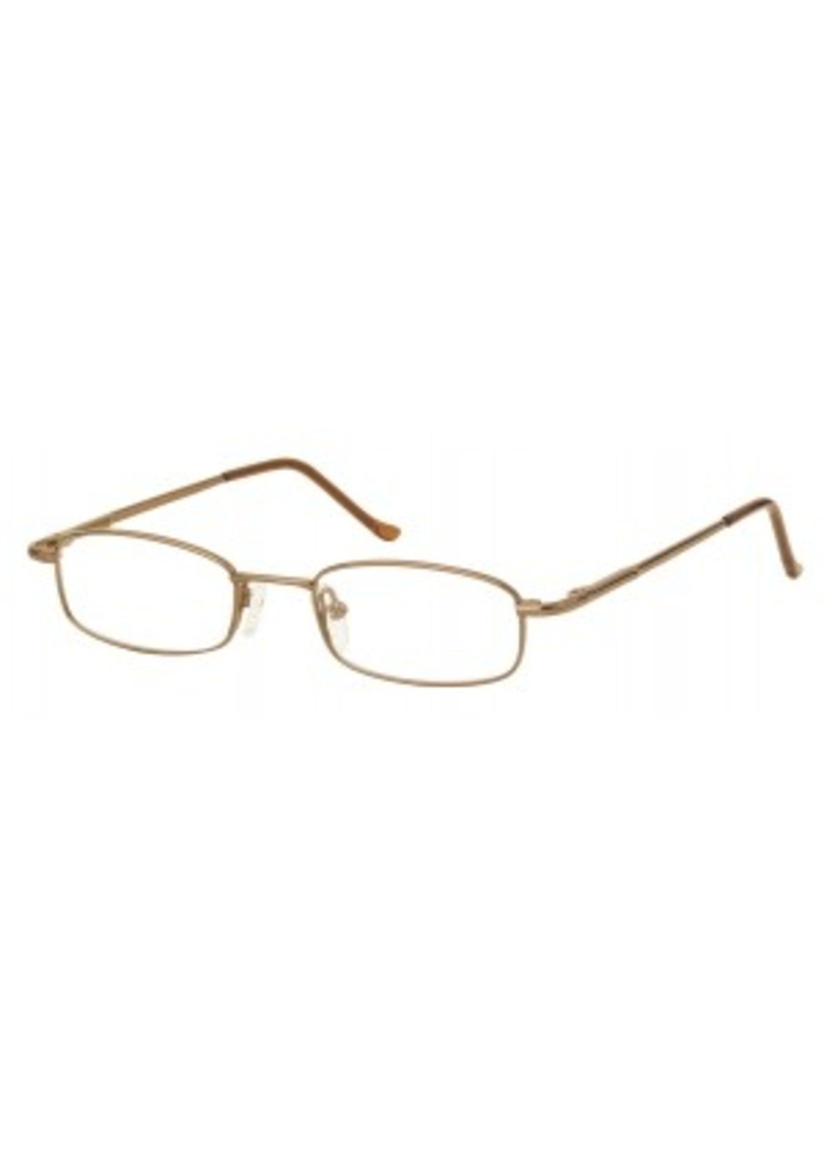 Tijdloze klassieke leesbril in goudkleur
