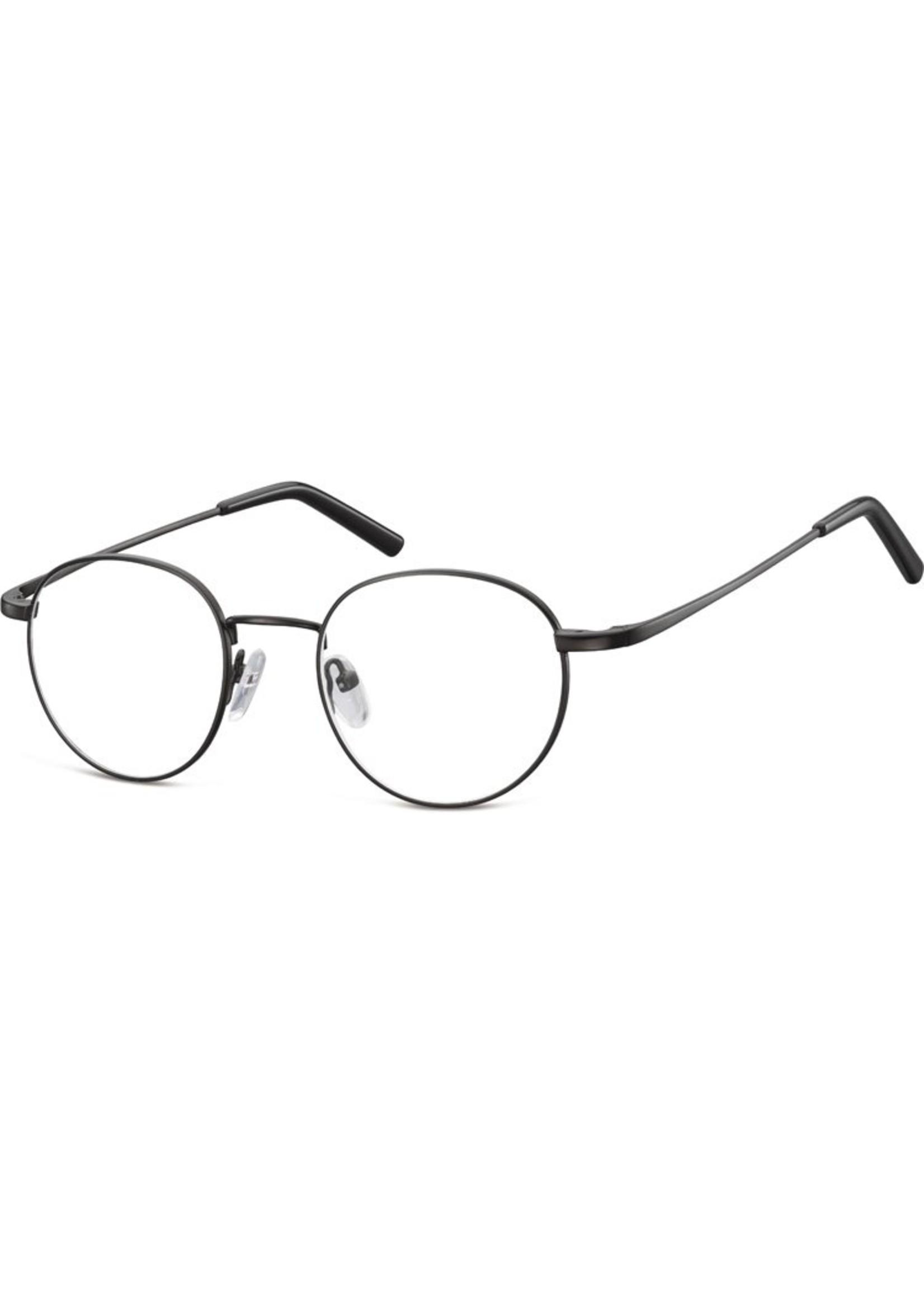 Panto bril Bernie in mat zwart metvkraswerend en ontspiegelde glazen