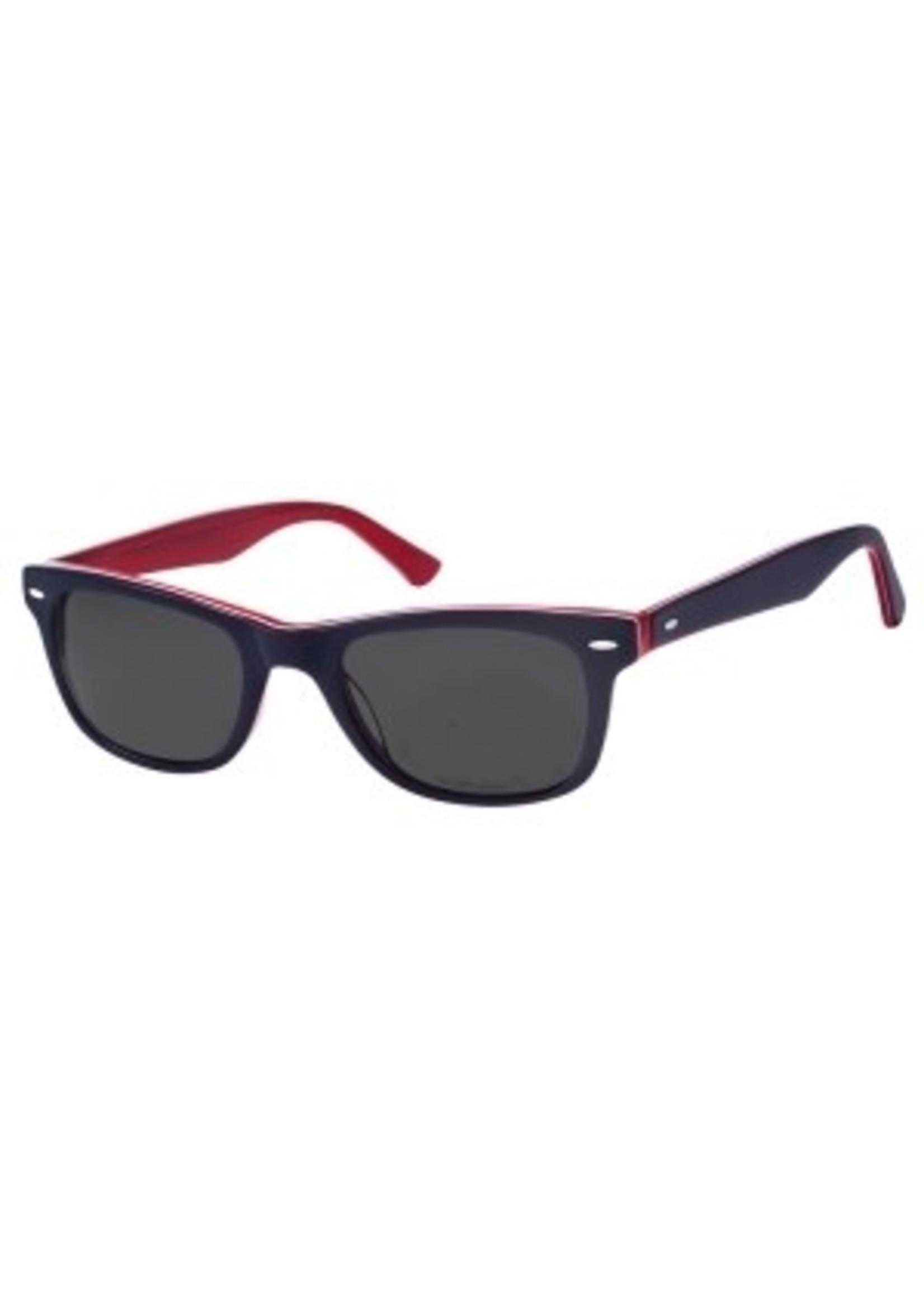 wayfarer leesbril in Navy blue/red