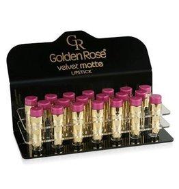 Golden Rose Matte Lipstick Velvet Display