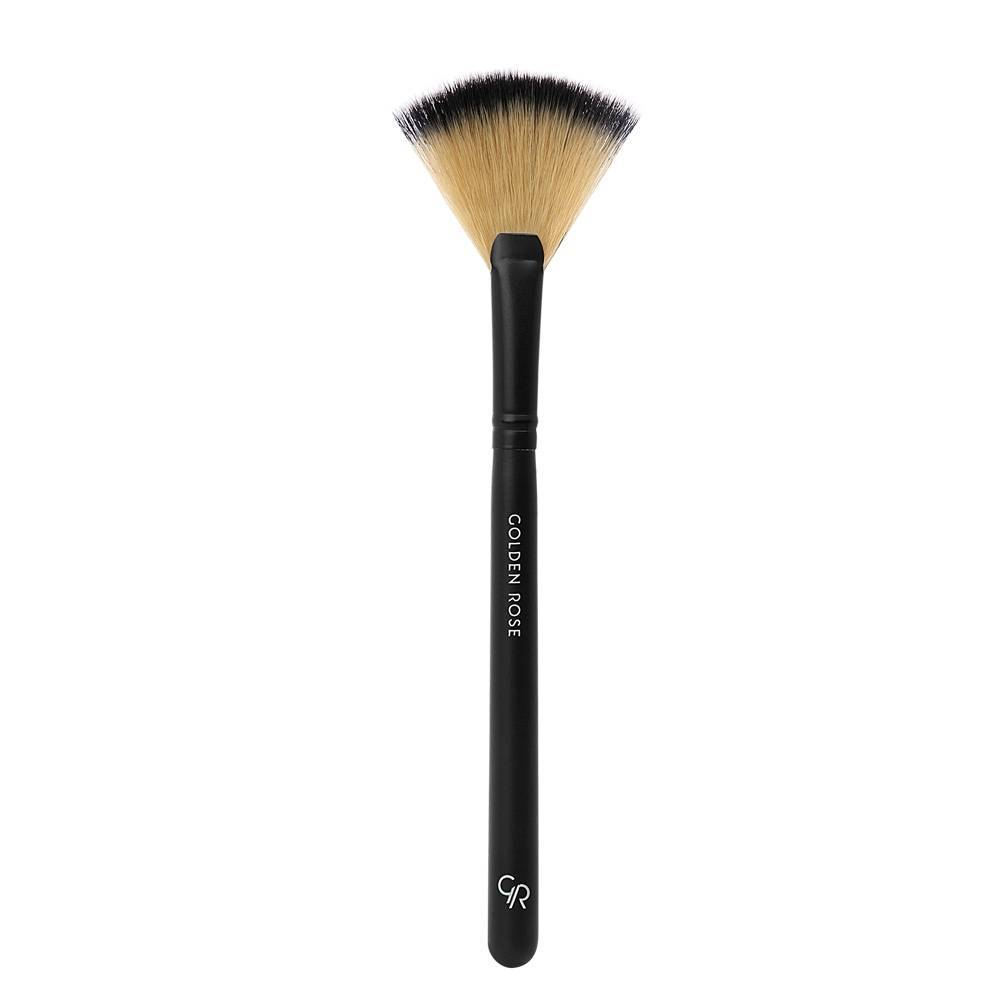Golden Rose Fan Brush