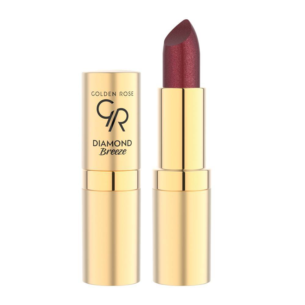 Golden Rose Diamond Breeze Shimmering Lipstick 04 Plum Sparkle