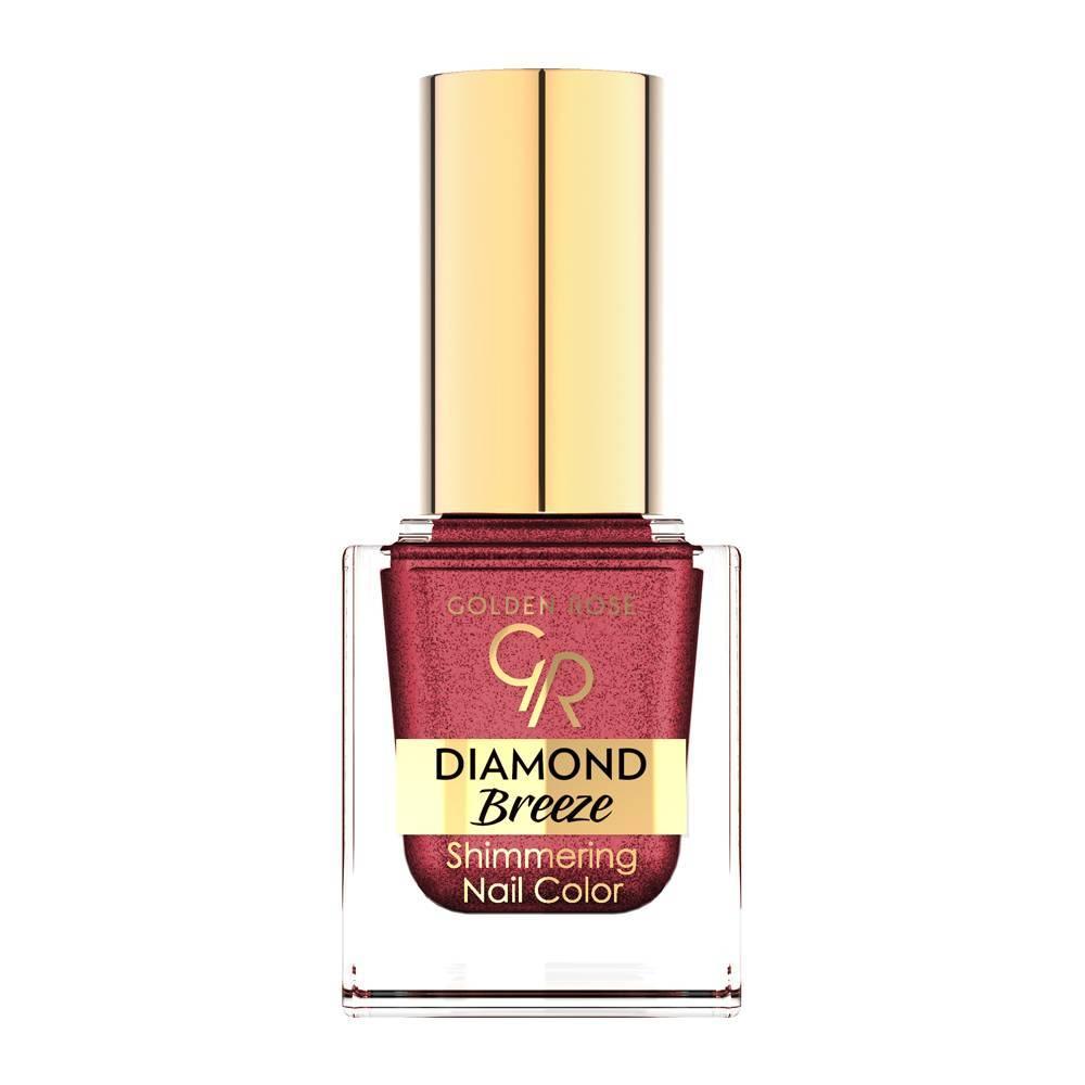 Golden Rose Diamond Breeze Shimmering Nail Color 04 Plum Sparkle