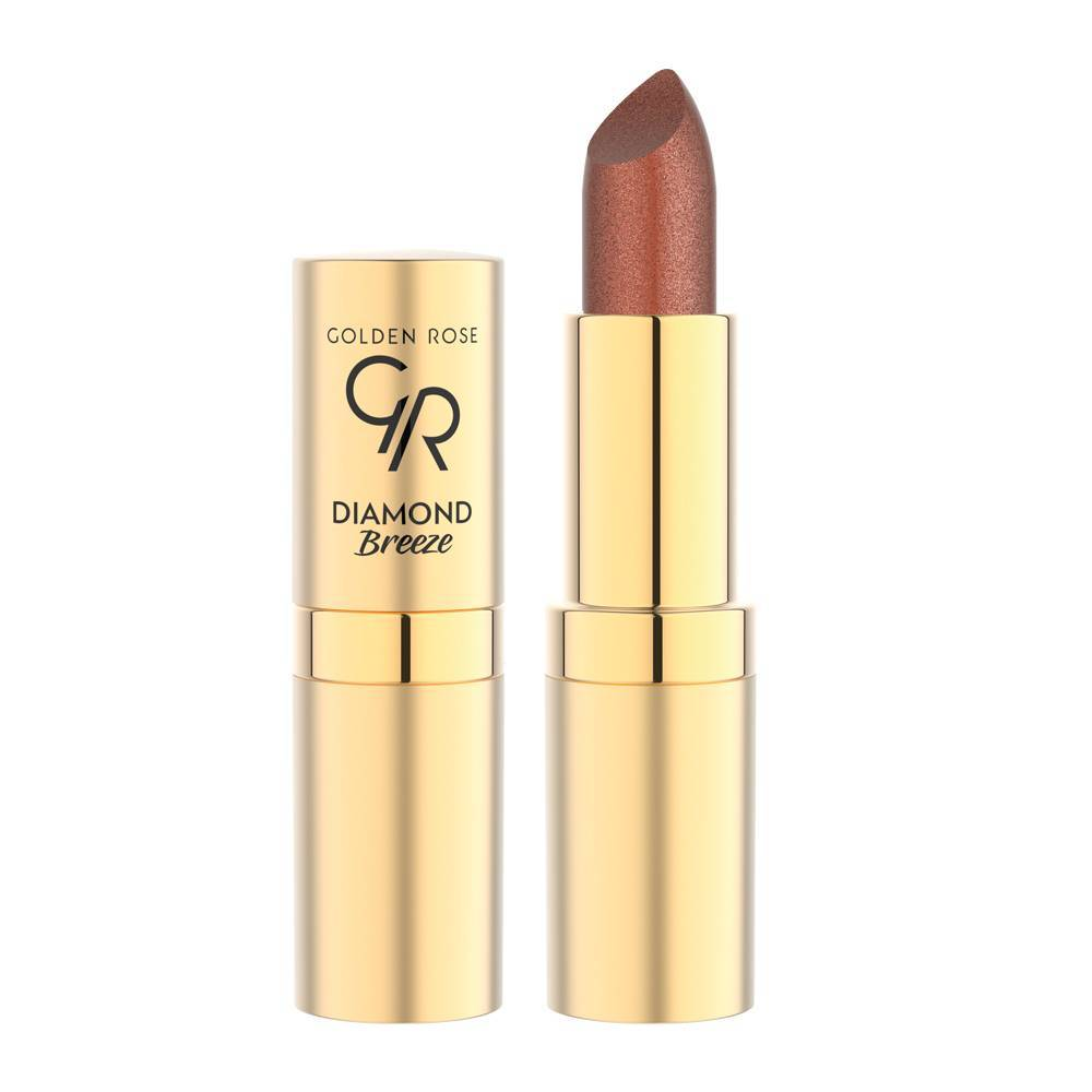 Golden Rose Diamond Breeze Shimmering Lipstick 03 Russet Sparkle