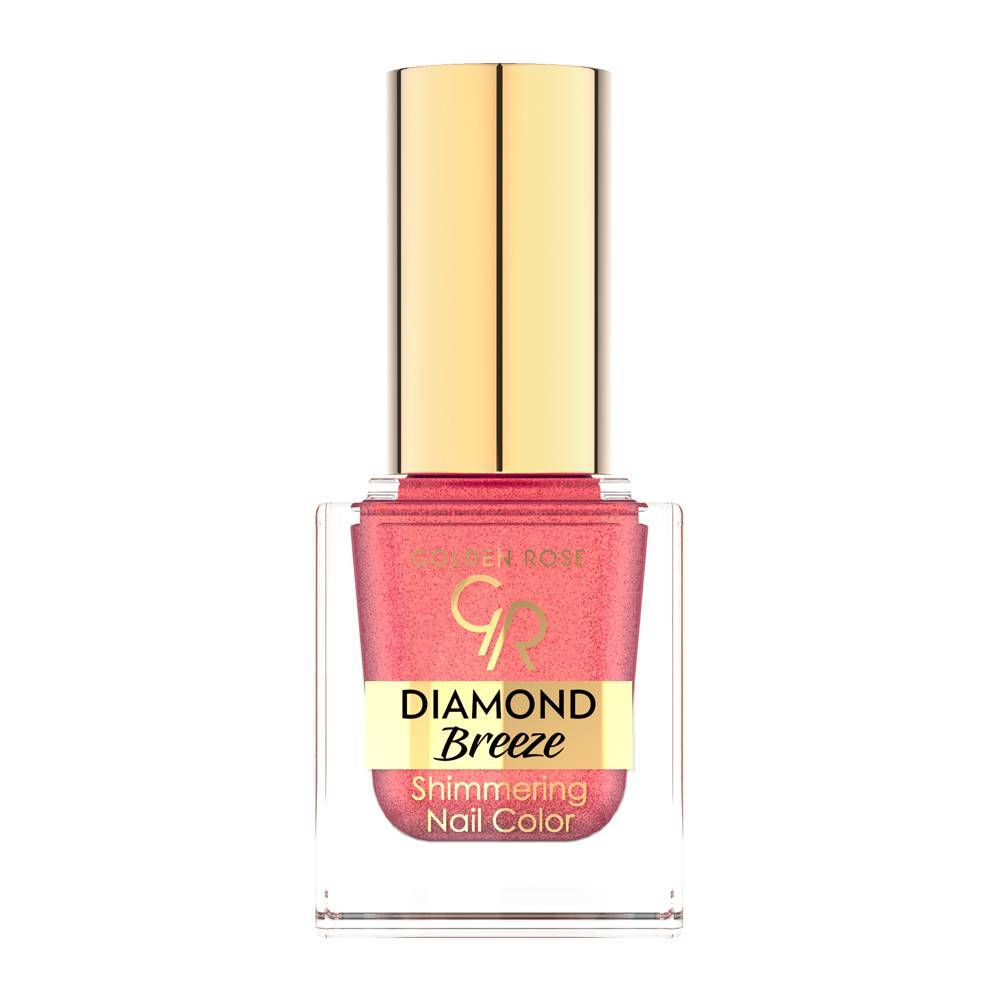 Golden Rose Diamond Breeze Shimmering Nail Color 02 Pink Sparkle