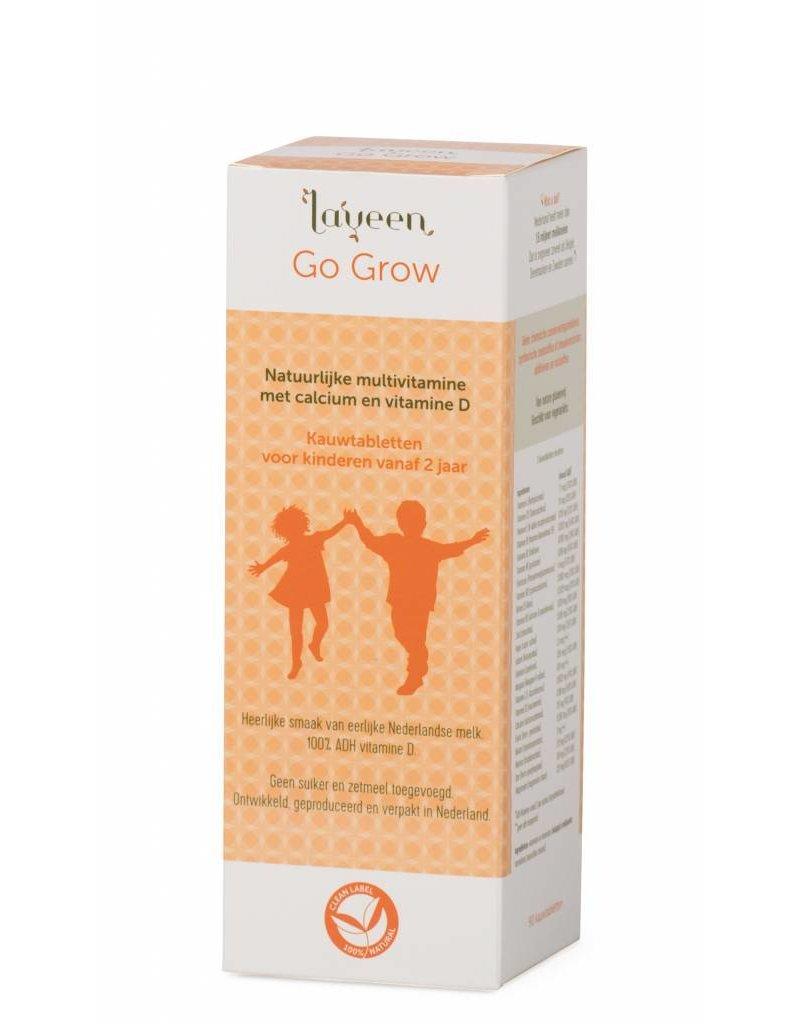 Laveen Go Grow -Natuurlijke multivitaminen voor kinderen met Calcium en Vit D