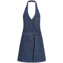 GREIFF Schort Pinafore denim stretch  70x65 cm dames