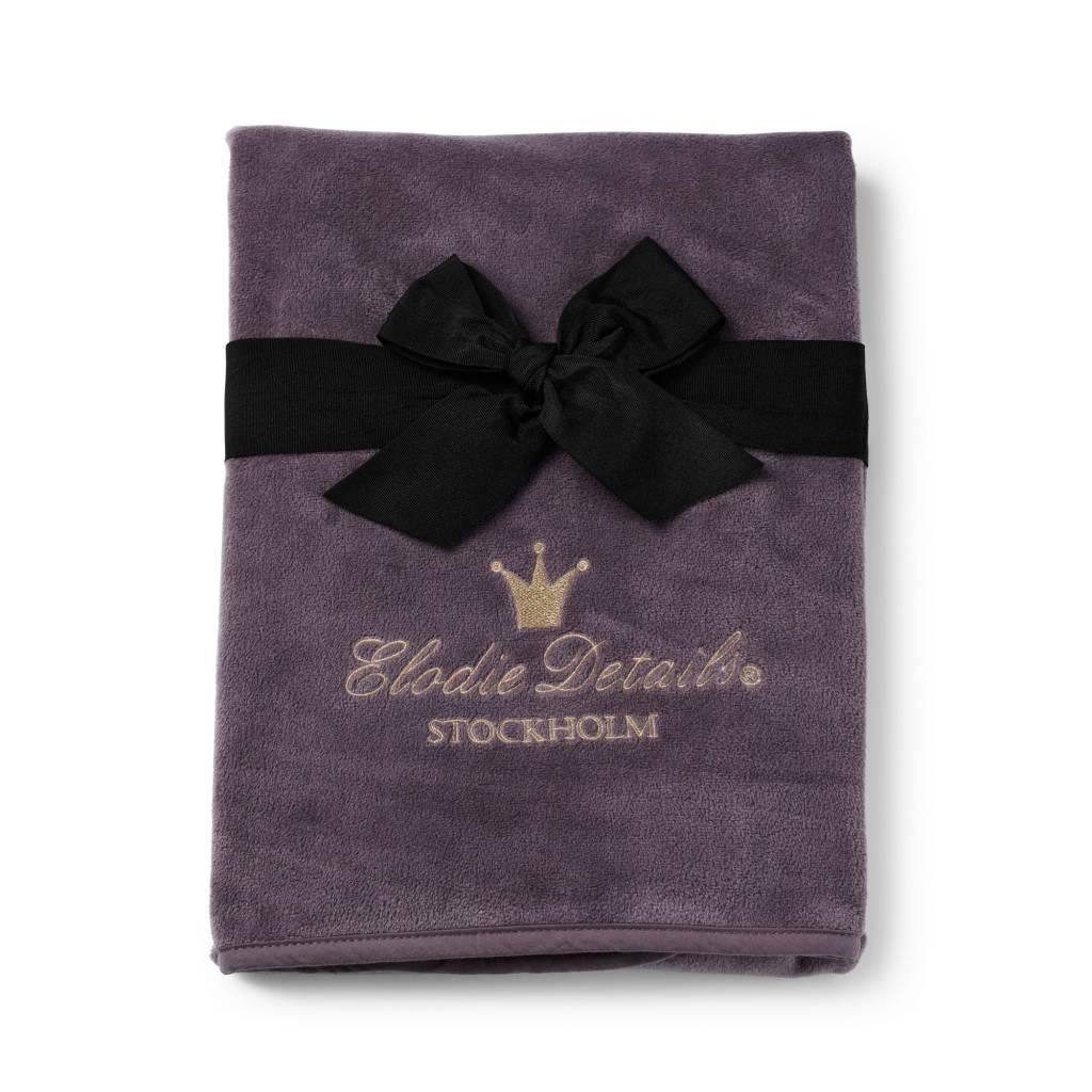 Elodie Details Elodie Details Pearl Velvet deken - Plum Love