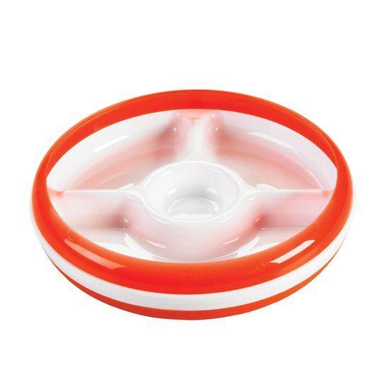 OXO tot OXO tot Bord met 3 vakjes - Oranje