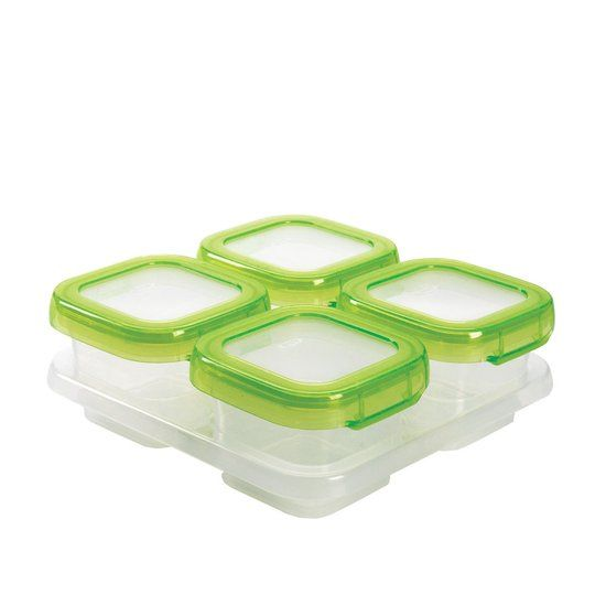 OXO tot OXO tot Vierdelige set diepvriesdoosjes (120 ml) - Green