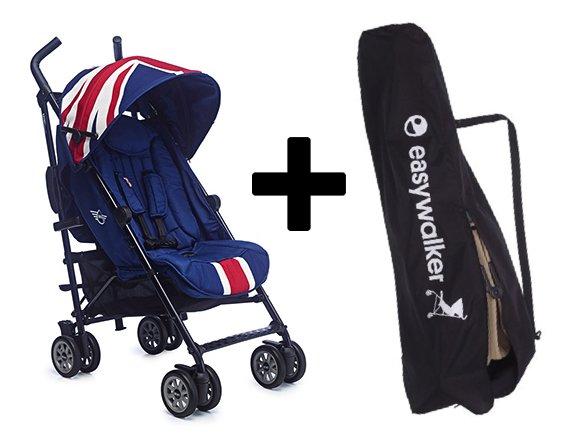 Easywalker MINI by Easywalker buggy - Union Jack Classic + Easywalker transport Tas