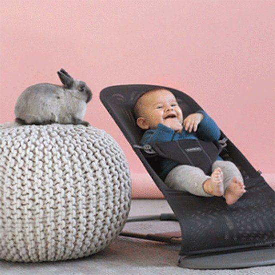 BABYBJÖRN BABYBJÖRN Bouncer Bliss - Sandgraue Baumwolle