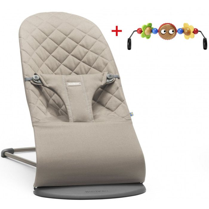 BABYBJÖRN BABYBJÖRN Bouncer Bliss Bundle - Sandgraue Baumwolle