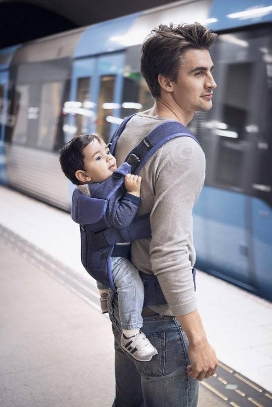 BABYBJÖRN BABYBJÖRN Babytrage One - Nadelstreifen Graue Baumwollmischung