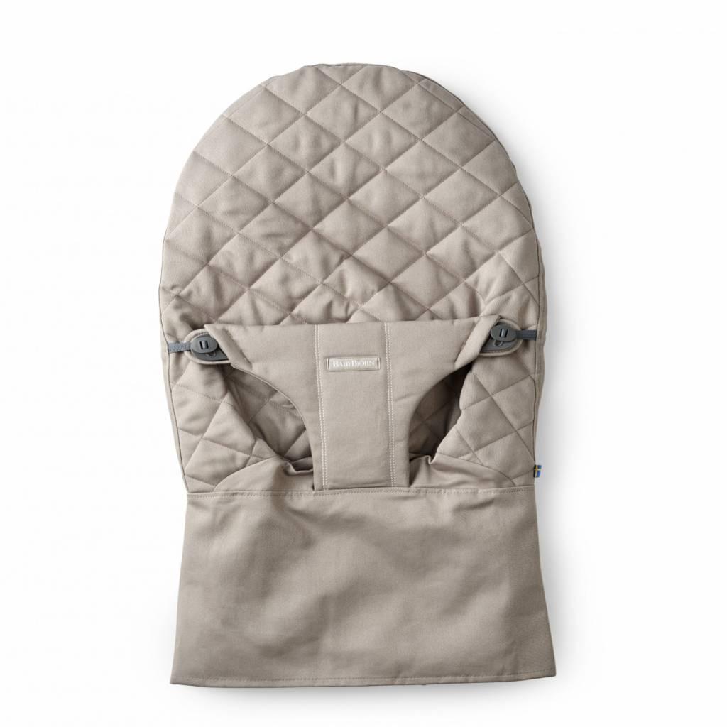 BABYBJÖRN BABYBJÖRN Stoffsitz für Baby-Türsteher - Sandgraue Baumwolle